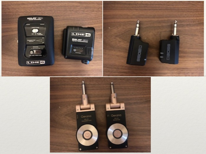 エレキギター ワイヤレスを体験_BOSS WL-20 VS LINE6 RELAY G30